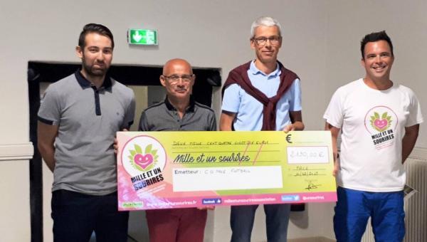 Pacé - COP foot - 2190 € de don à 1001sourires